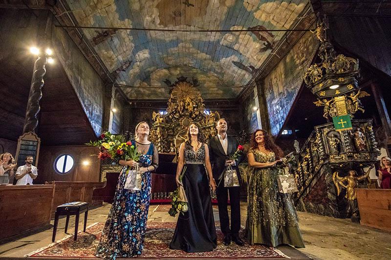 Operné gala v Kežmarku 2018, Júlia Grejtáková, Slávka Zámečníková, Richard Šveda, Zuzana Šveda, foto: Zdenko Hanout