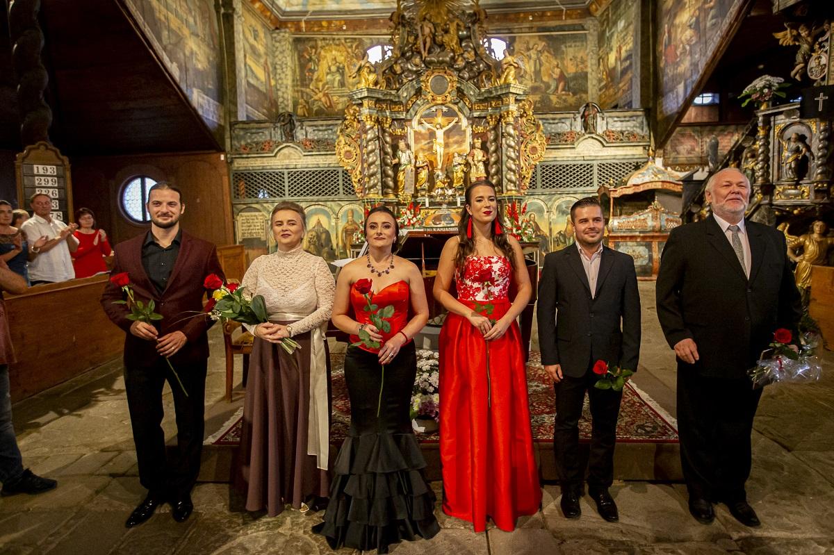 Operné gala v Kežmarku 2019, Peter Malý, Myroslava Havryliuk, Júlia Grejtáková, Dávid Harant, Peter Mikuláš, foto: Zdenko Hanout